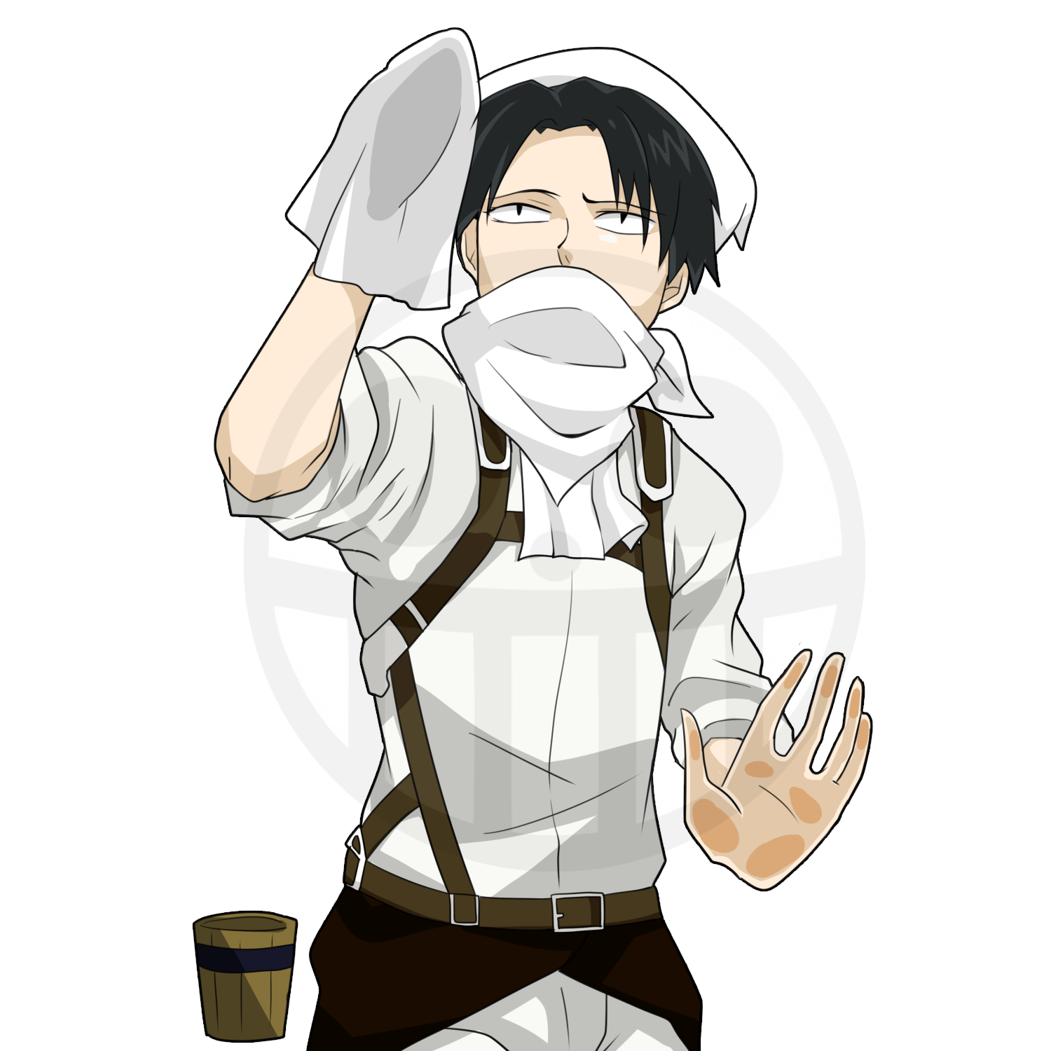 Levi No Dust In My House Peeker Hentaku Anime Stickers ���via gridllr.com — quicker reblogging! levi no dust in my house peeker