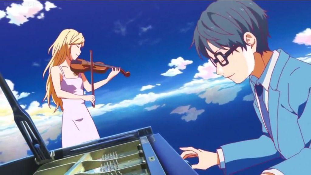 Your Lie In April Anime Drawing